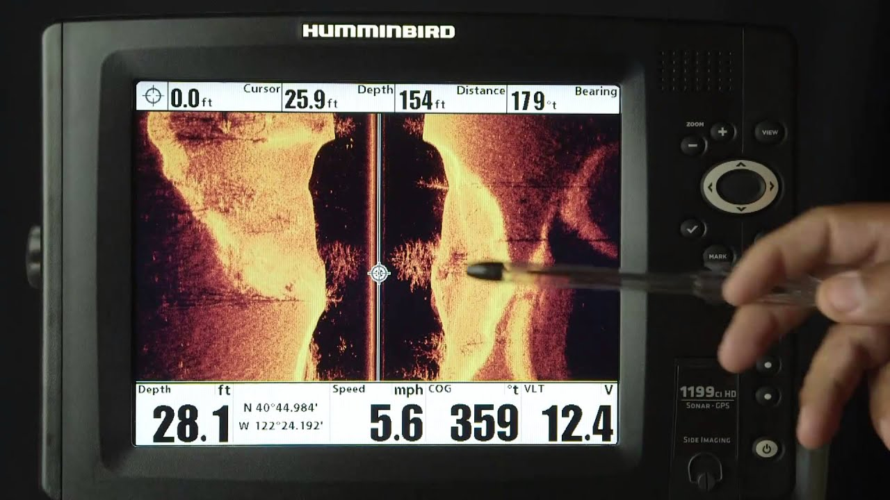 humminbird depth finder side imaging zoom - youtube, Fish Finder