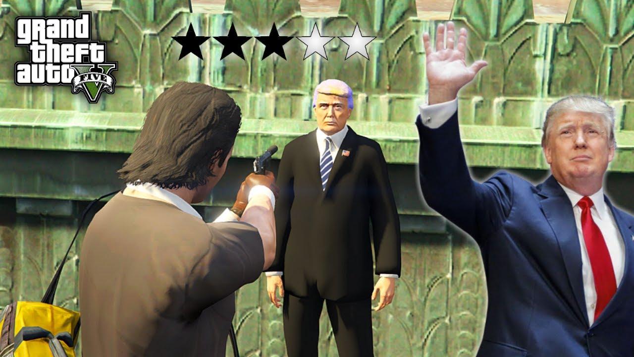 I Stole President Donald Trump Limousine Car - GTA 5 Gameplay thumbnail