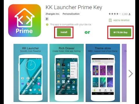 kk launcher prime free download