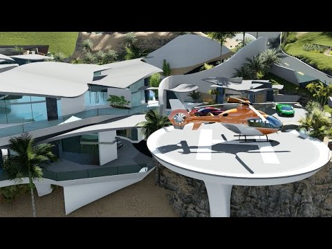 Modern Contemporary Curvilinear Architecture Design - $60 Million Dollar Beach Mansion