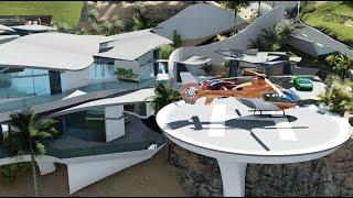 Modern Contemporary Curvilinear Architecture Design - $60 Million Dollar Beach Mansion