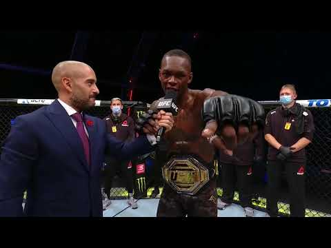 UFC 253: Israel Adesanya Octagon Interview | Improves to 20-0