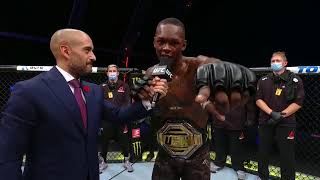 UFC 253: Israel Adesanya Octagon Interview | Improves to 20-0