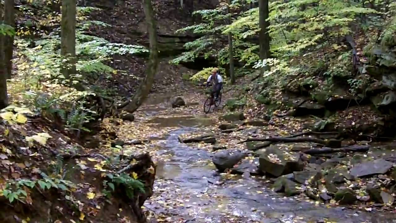 Riding Mountain Bike In Stream At West Branch State Park Youtube