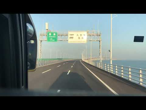 Hong Kong - Zhuhai - Macau Bridge Bus Shuttle Service Hyperlapse