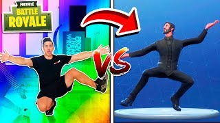ALL FORTNITE DANCES IN REAL LIFE! (YOUTUBER EDITION)