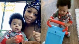 Woah! Lil Baby & Jayda Son Loyal Can't Wait To Walk!