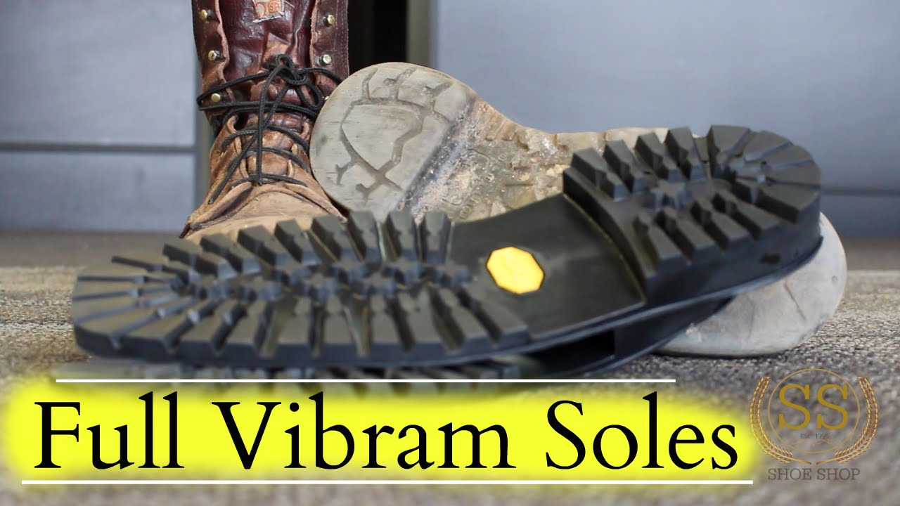 Work Boots Full Restoration Full Vibram Soles Youtube