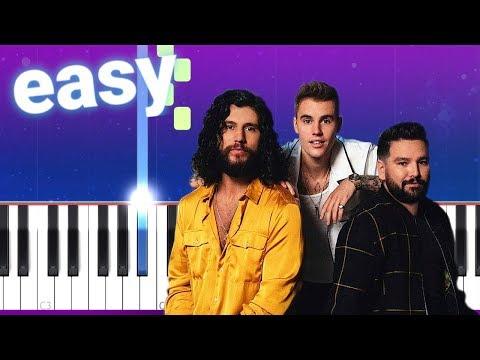 Dan + Shay, Justin Bieber - 10,000 Hours (100% EASY PIANO TUTORIAL)