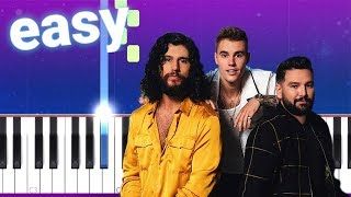 Dan + Shay, Justin Bieber - 10,000 Hours (100% EASY PIANO TUTORIAL)