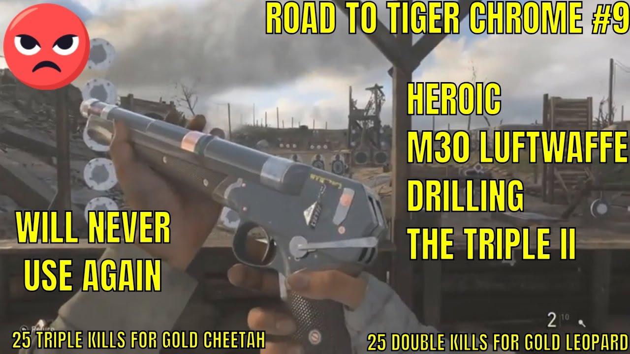 ROAD TO CHROME TIGER M30 LUFTWAFFE DRILLING COD WW2 #9