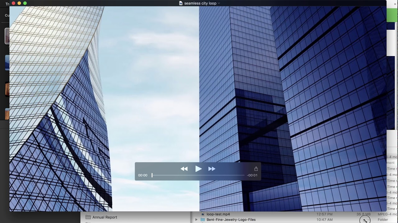 How to create Seamless video loop with IMovie