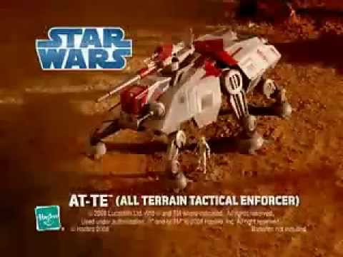 Star Wars - AT-TE - Clone Wars - TV Toy Commercial - TV Spot - TV Ad - Hasbro
