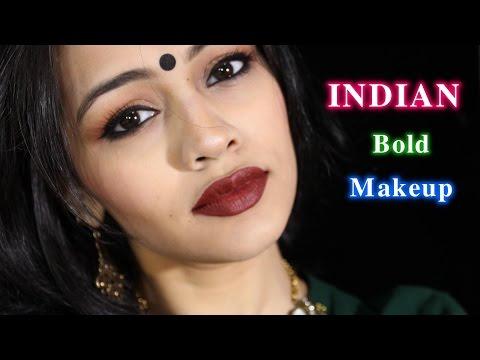 INDIAN BOLD MAKEUP LOOK #MAKEUPTUTORIAL #BINDI