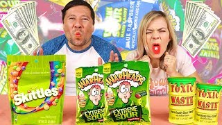 LAST TO QUIT WINS $1,000! Extreme Sour Candy Challenge!