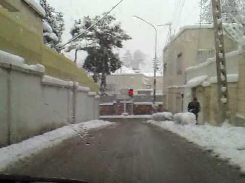 Tehran Winter 2008 Snow Zaferaniye Saad-Abad Tajrish