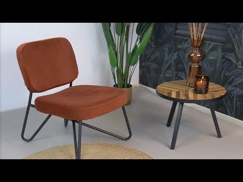 Velvet fauteuil Julia zwart