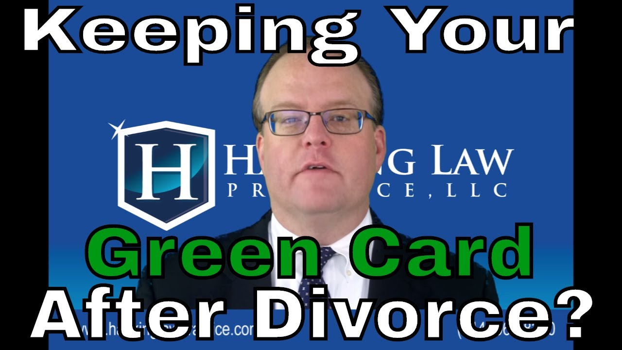 Can a conditional resident keep their green card after
