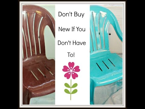 How To Paint Cheap Plastic Lawn Chairs!