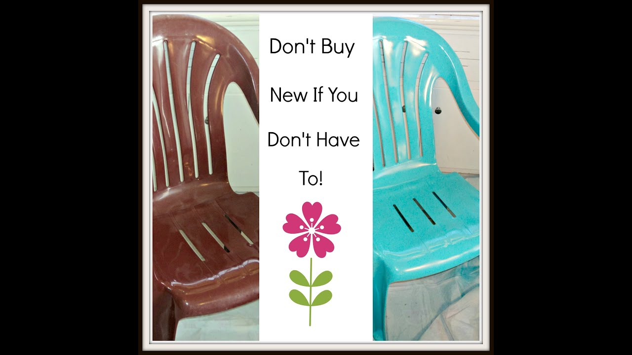 How To Paint Plastic Chairs High Chair Sale Cheap Lawn Youtube