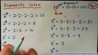 Exponents intro