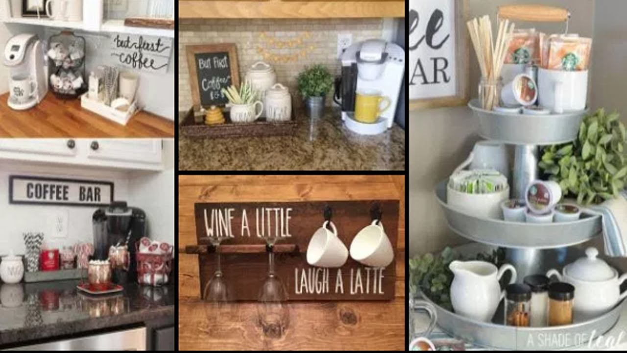 75 home coffee bar design and decor ideas diy kitchen for Coffee bar design ideas