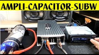 Como conectar un amplificador de un salida, subwoofer y capacitor