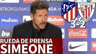 Atlético de Madrid 3-2 Athletic | Rueda de prensa de Simeone | Diario AS