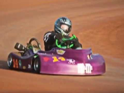 Dirt Karts Side By Side Racing Action July 12, 2014, Checkered Flag Kartway Georgia