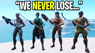 We created the RAREST Fortnite skin squad ever and THIS happened... (ALL OG SKINS!)