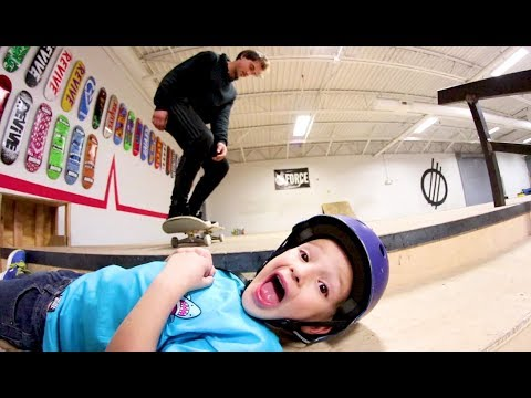 SKATING OVER A 5 YEAR OLD!?