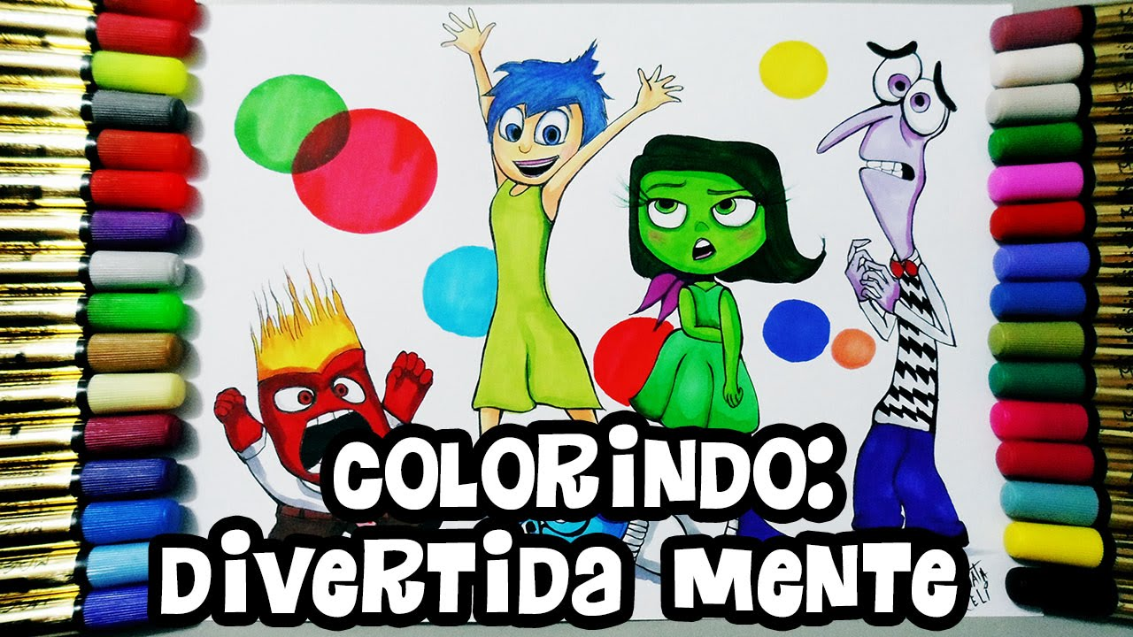 divertida mente inside out colorindo speed coloring youtube