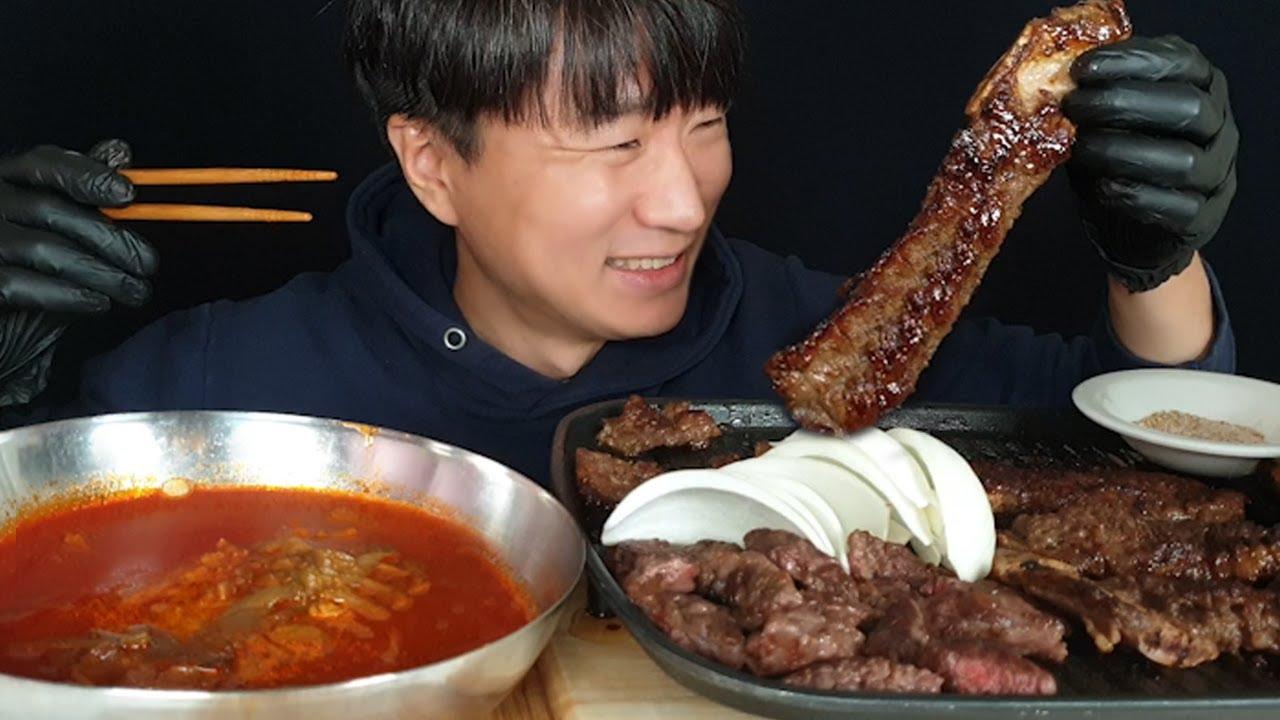 이게 갈비지 🍗 이동소갈비와 생갈빗살 먹방(ft.육개장) Marinated beef ribs asmr mukbang