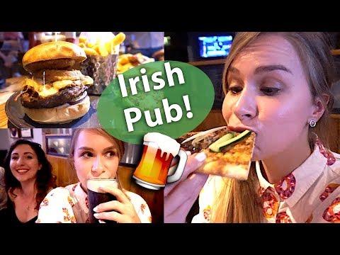 Irish Pub In London Experience: Drinking Guinness & Food