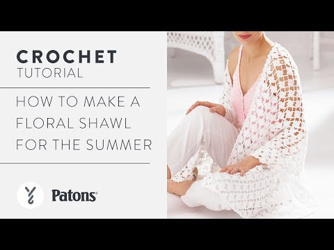 How to Crochet a Floral Shawl | With The Crochet Crowd - YouTube