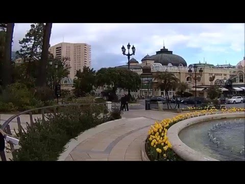 Monte Carlo walk through shops to Casino 2016 HD1080