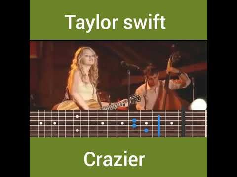 Taylor Swift - Crazier guitar chords - YouTube