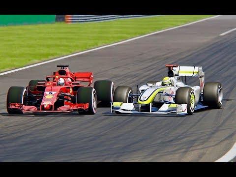 Ferrari F1 2018 vs F1 Brawn GP 2009 - Monza