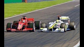 Download Video Ferrari F1 2018 vs F1 Brawn GP 2009 - Monza MP3 3GP MP4