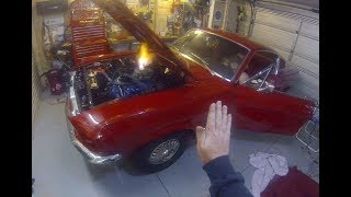Starting the 1967 Mustang engine for the first time in 21 years