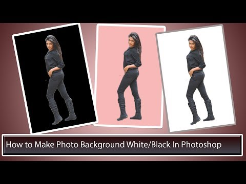 How to Make Photo Background White Or Black In Photoshop