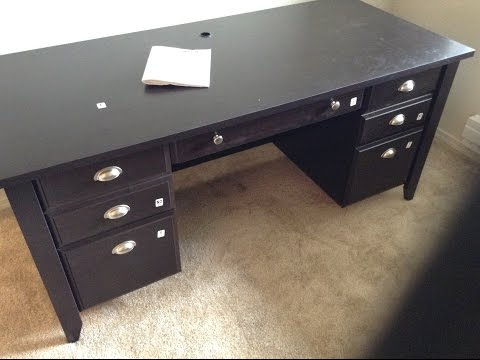Sauder 408920 Made in USA Executive Desk From Office Depot (build tutorial)