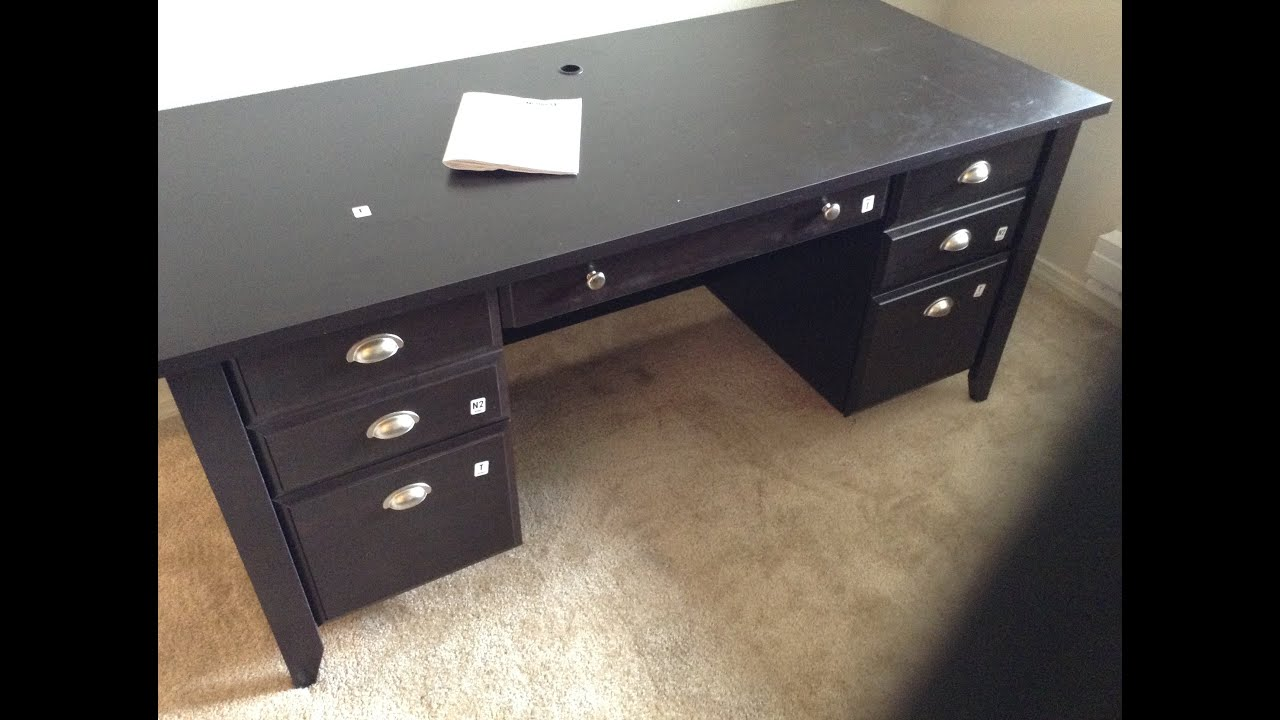 Sauder 408920 Made In USA Executive Desk From Office Depot (build Tutorial)    YouTube