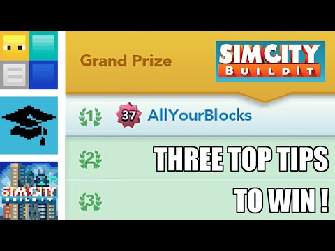 SimCity BuildIt - 3 Top Tips to Win the Contest of Mayors | BuildIt Masterclass | AYB126