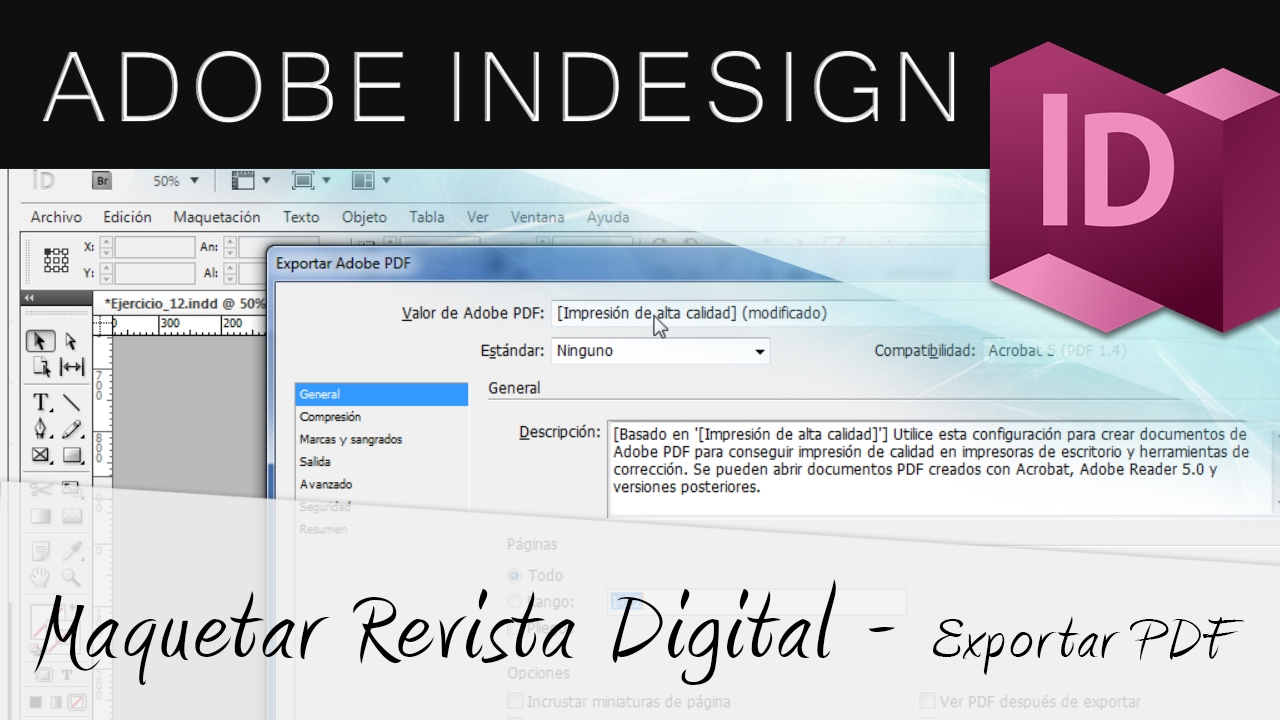 Exportar Revista Digital en PDF - Adobe InDesign - YouTube