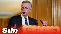 Michael Gove leads UK COVID-19 daily briefing