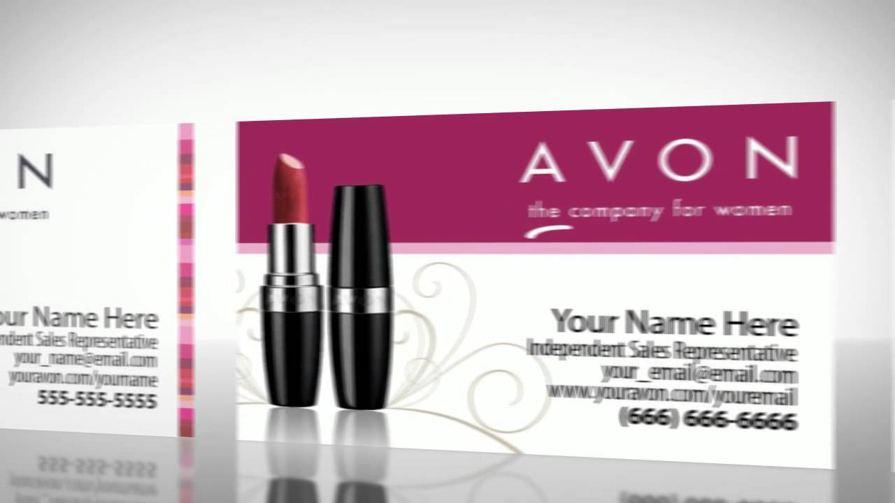 Avon business cards youtube avon business cards colourmoves