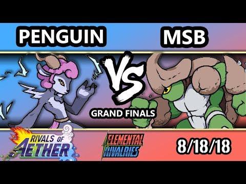 ER - MSB [L] (Kragg) Vs. Penguin (Absa) - Rivals of Aether Grand Finals