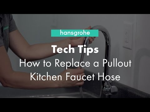 hansgrohe-tech-tips:-how-to-replace-a-pullout-kitchen-faucet-hose