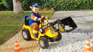 Funny Baby Paw Patrol Unboxing And Assembling The POWER Wheel Ride On New Tractor Excavator